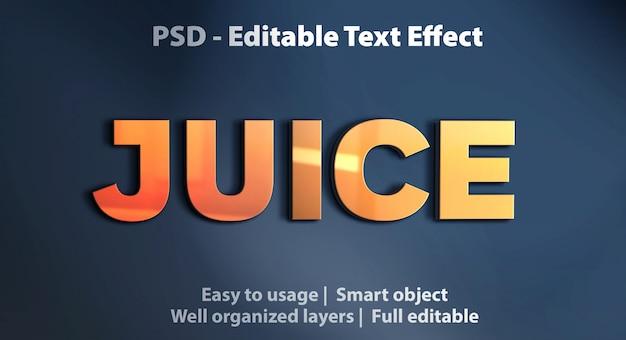 Editable text effect juice Premium Psd