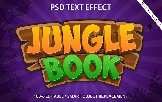 Editable text effect jungle book