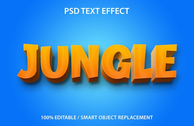 Editable text effect jungle