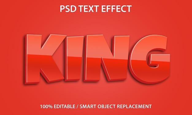 편집 가능한 텍스트 효과 king premium