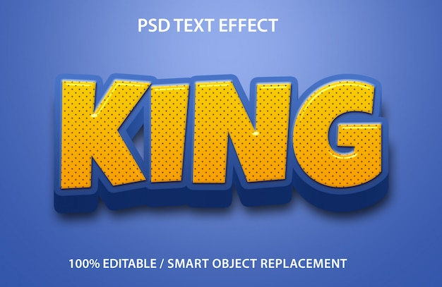 Editable text effect king