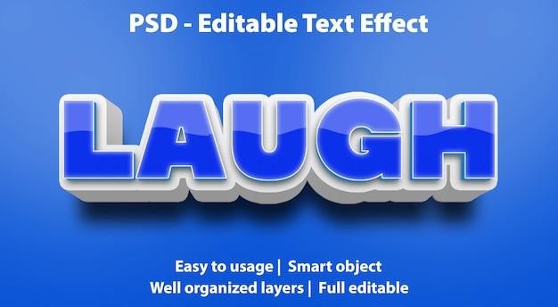 Editable text effect laugh premium