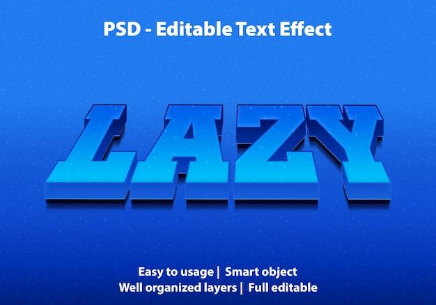 편집 가능한 텍스트 효과 lazy premium