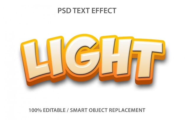 Editable text effect light