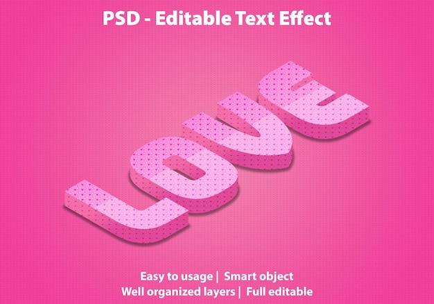 편집 가능한 텍스트 효과 love premium