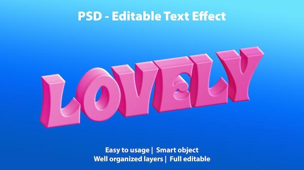Редактируемый текстовый эффект прекрасный