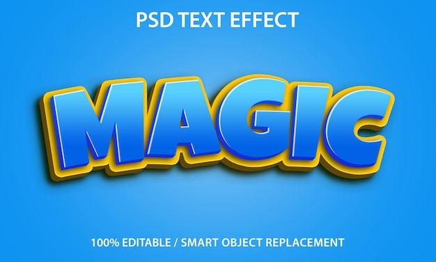 편집 가능한 텍스트 효과 magic premium
