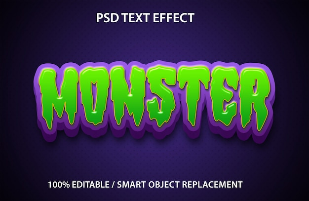 Editable text effect monster