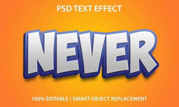 Editable text effect never