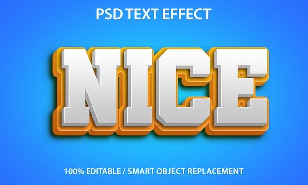 Редактируемый текстовый эффект хороший