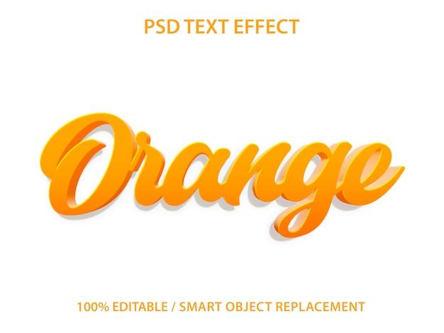 Редактируемый текстовый эффект оранжевый