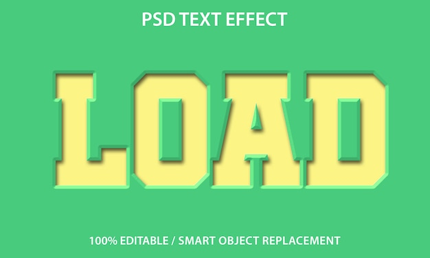 Editable text effect paper load