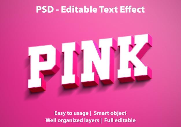 Редактируемый текстовый эффект розовый