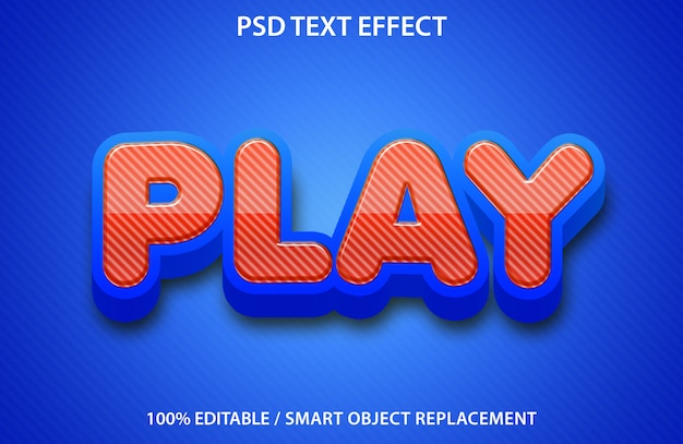 Редактируемый текстовый эффект play