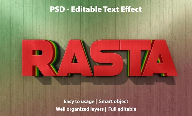 편집 가능한 텍스트 효과 rasta premium