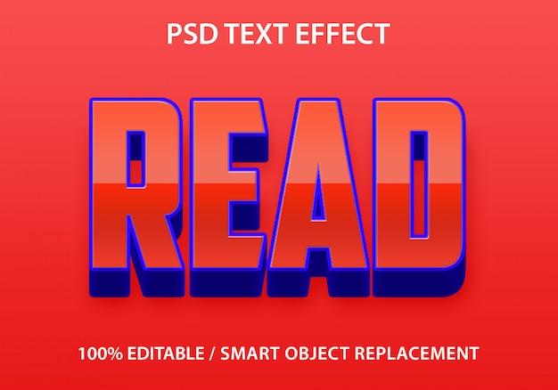 Редактируемый текстовый эффект читать