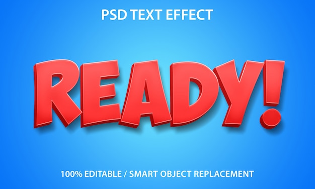 Editable text effect ready