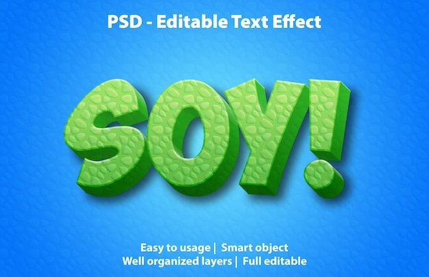 편집 가능한 텍스트 효과 soy premium