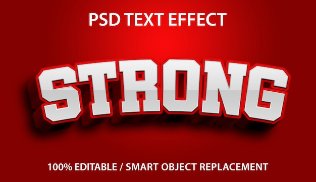 Editable text effect strong premium