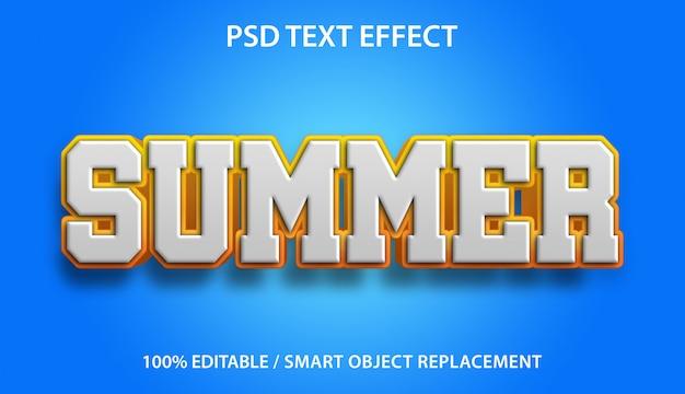 Редактируемый текстовый эффект лето