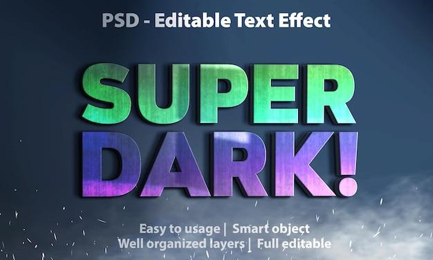 편집 가능한 텍스트 효과 super dark premium