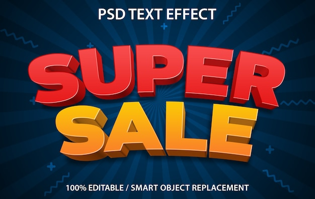 Editable text effect super sale