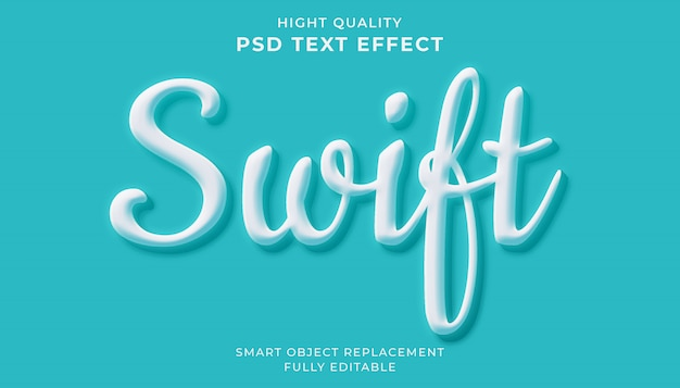 Editable text effect. swift text style
