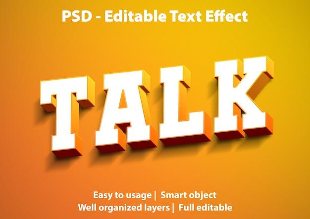Редактируемый текстовый эффект talk