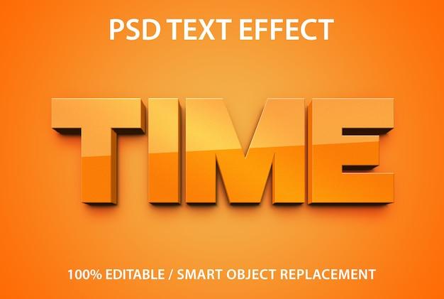 편집 가능한 텍스트 효과 시간 프리미엄