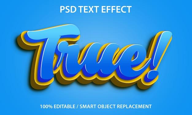 편집 가능한 텍스트 효과 true premium