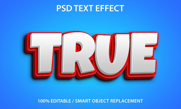 Editable text effect true