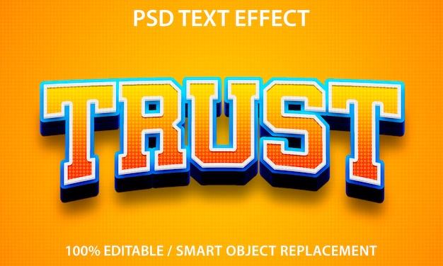 편집 가능한 텍스트 효과 trust premium