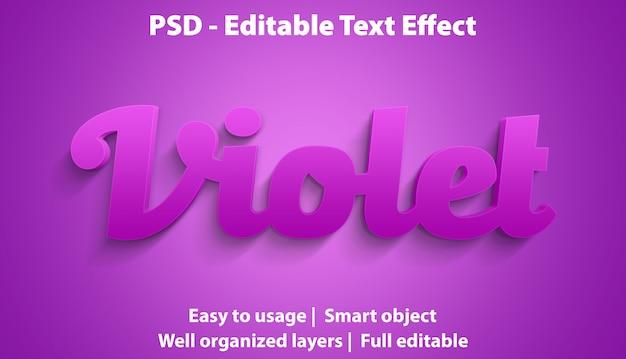 Редактируемый текстовый эффект violet premium