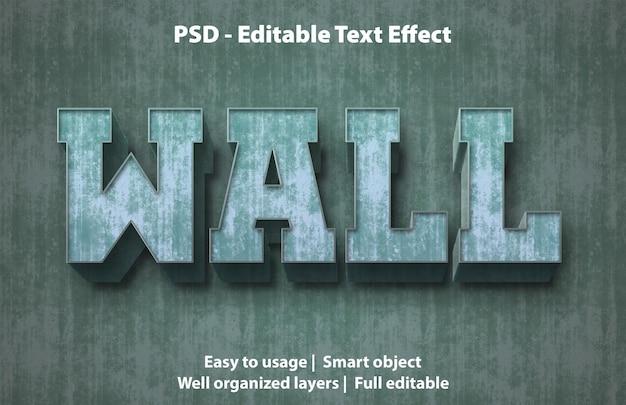 편집 가능한 텍스트 효과 벽 프리미엄