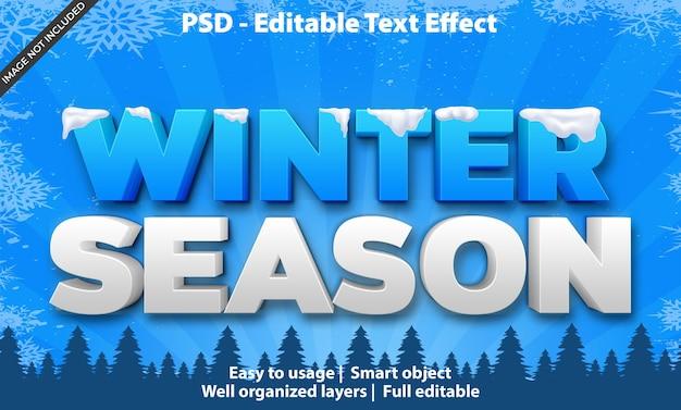 편집 가능한 텍스트 효과 winter season premium