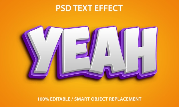 Editable text effect yeah