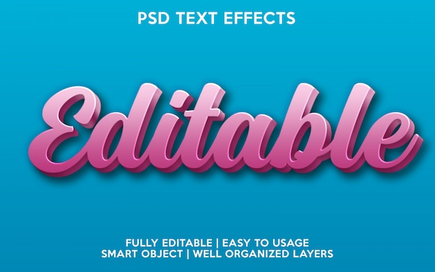 Редактируемый текстовый эффект