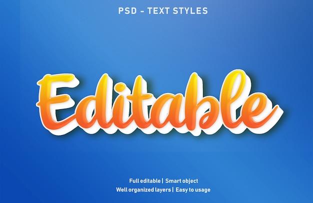 Редактируемые текстовые эффекты стиль редактируемый psd