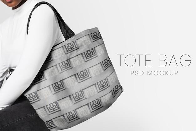 Редактируемый макет сумки-тоут, шаблон psd, реклама одежды для подростков