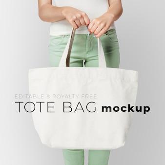 Editable tote bag mockup psd