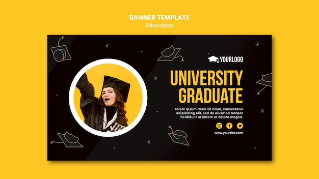 Education concept banner template