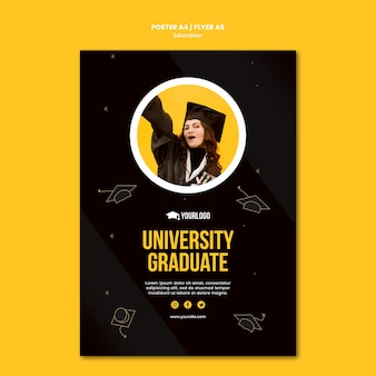 Education concept flyer template