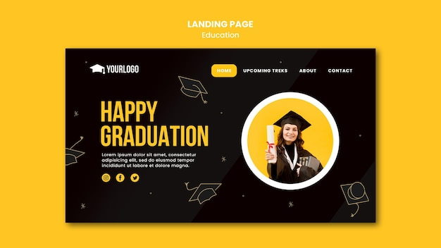 Education concept landing page template