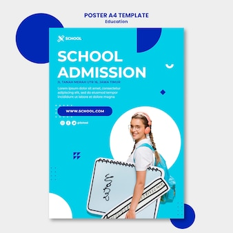 Education concept poster template