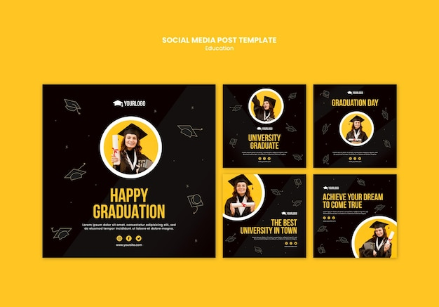 Education concept social media post template