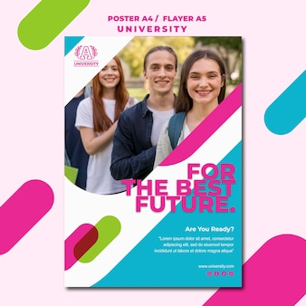 Education concept university flyer template