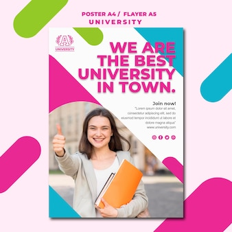 Education concept university poster style