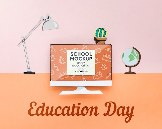 Education day concept mock-up