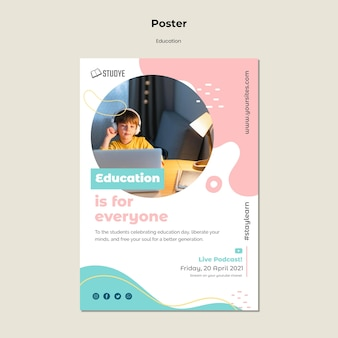 Education for everyone poster template