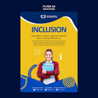 Education flyer template with photo